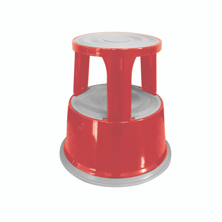 KF04843 Q-Connect Red Metal Step Stool KF04843