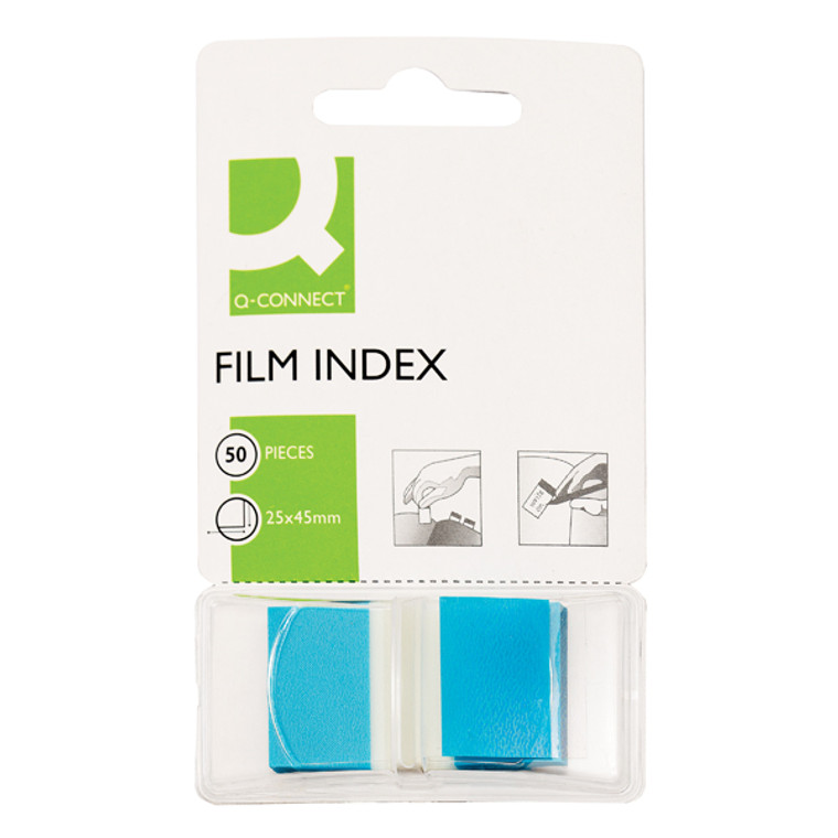 KF03632 Q-Connect Page Marker Blue Pack 50 KF03632