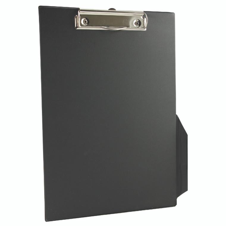 KF01296 Q-Connect PVC Single Clipboard Foolscap Black KF01296