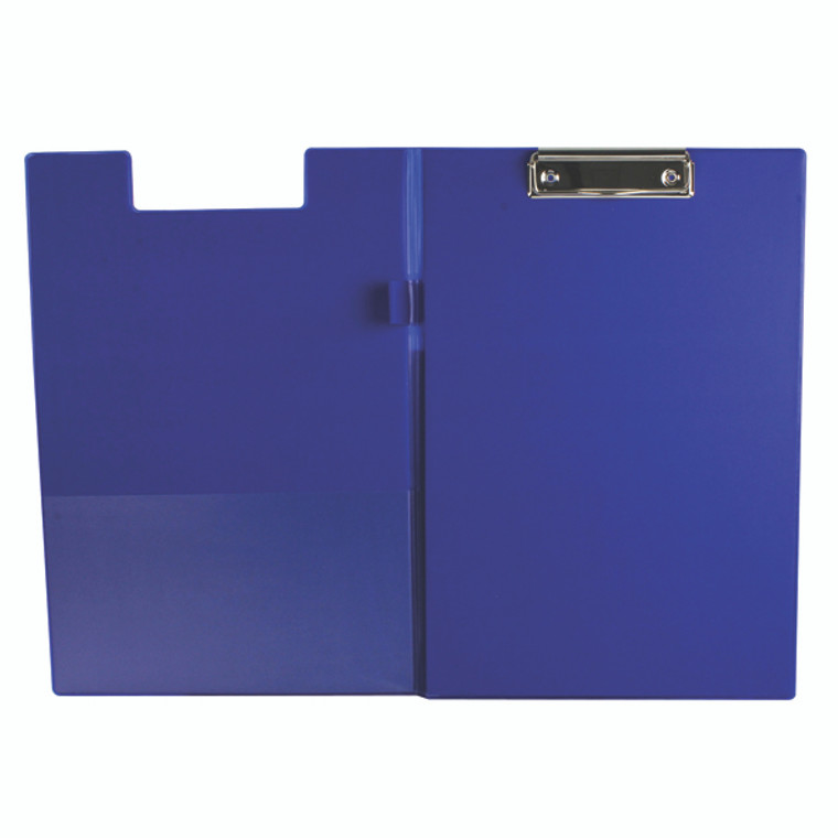 KF01301 Q-Connect PVC Foldover Clipboard Foolscap Blue KF01301