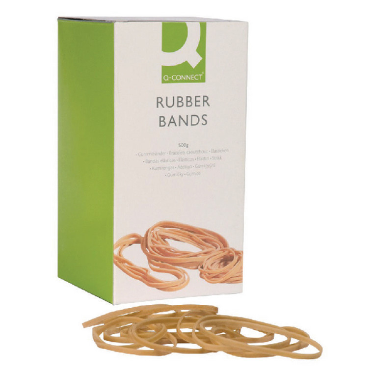 KF10554 Q-Connect Rubber Bands No 69 152 4 x 6 3mm 500g KF10554