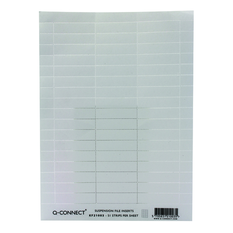 KF21003 Q-Connect Suspension File Insert White Pack 51 KF21003