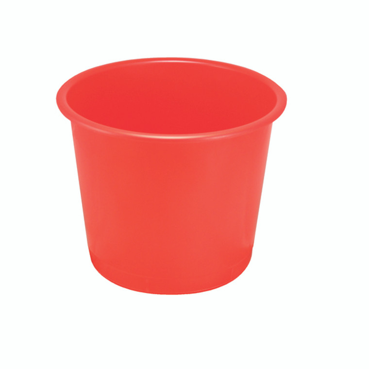 KF01128 Q-Connect Waste Bin 15 Litre Red CP025KFRED