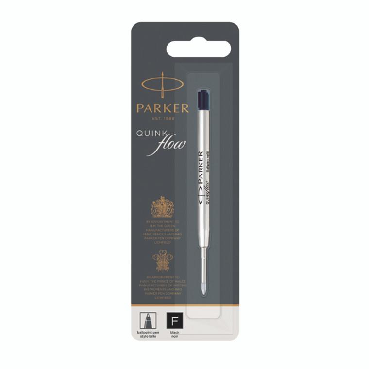 PA90953 Parker Quink Ballpoint Pen Refill Fine Black Blister Pack 12 1950367