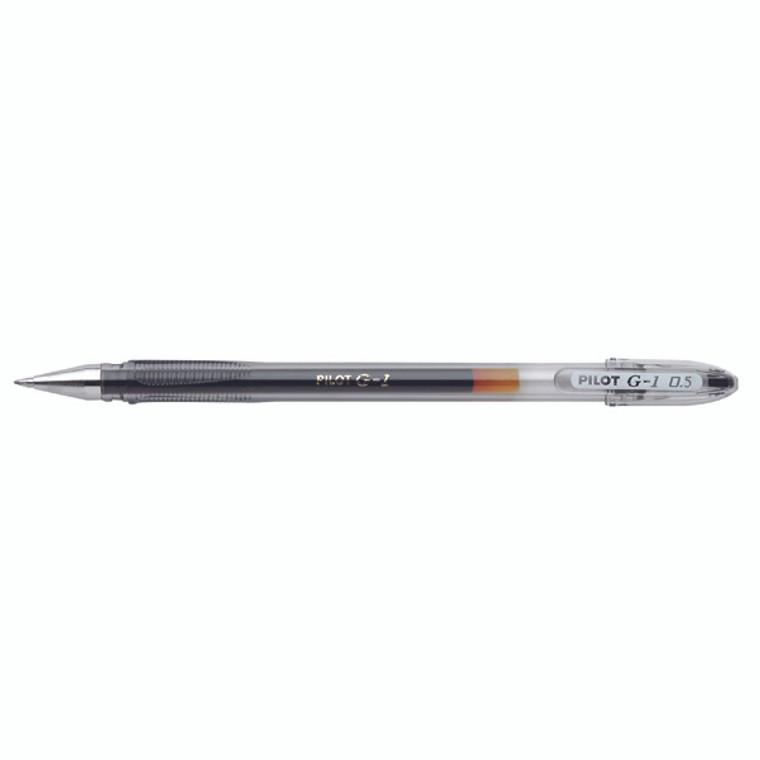 PIG105BK Pilot G1 Gel Ink Rollerball Pen Fine Black Pack 12 G10501