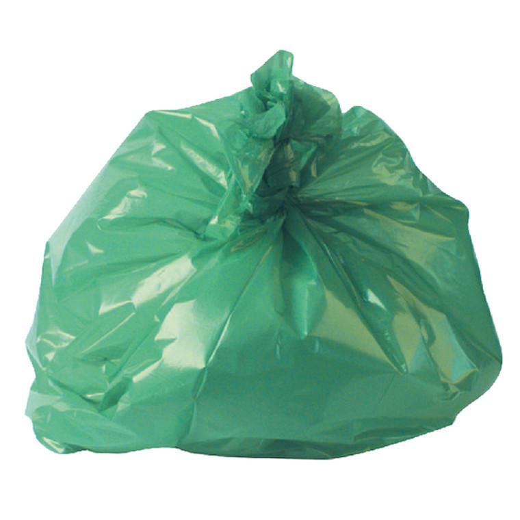 RY15561 2Work Medium Duty Refuse Sack Green Pack 200 RY15561