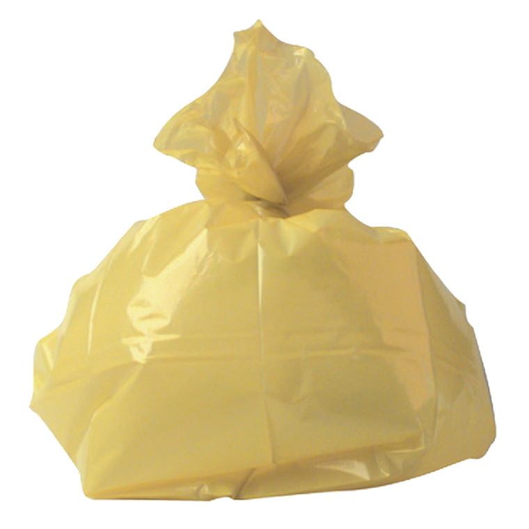 RY15581 2Work Medium Duty Refuse Sack Yellow Pack 200 RY15581