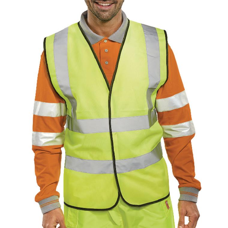 PWC02256 Hi-Viz Vest S Yellow EN ISO 20471 XXL WCENGXXL