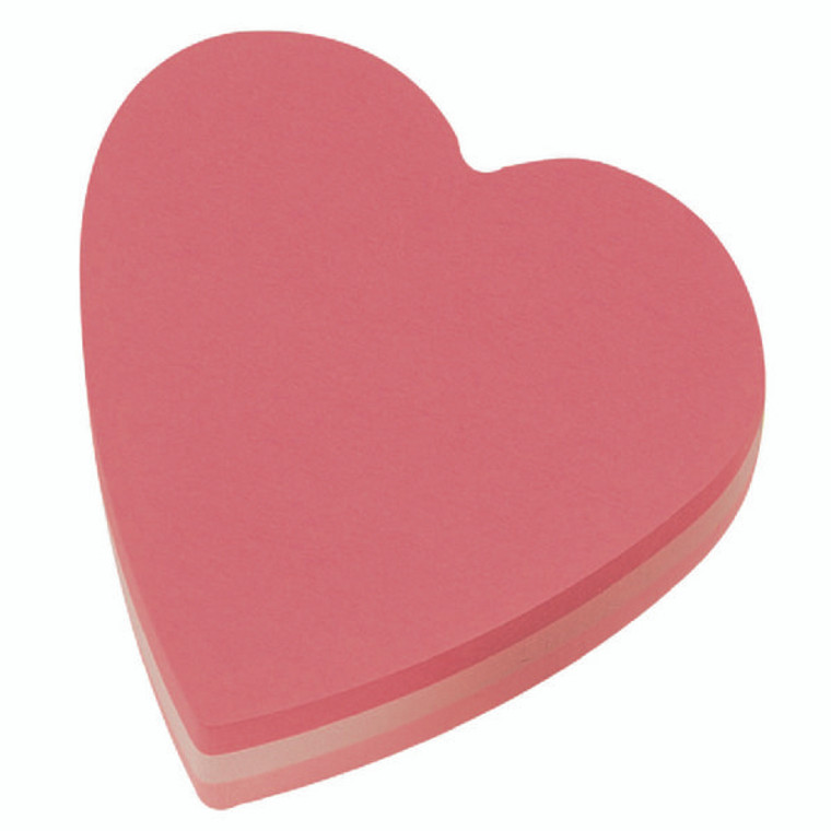 3M49869 Post-it Notes 70 x 70mm Heart Pink Pack 12 2007H