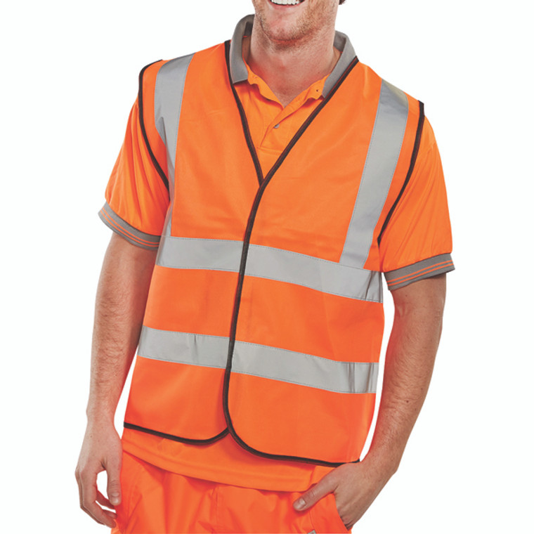 BRG10009 Hi-Viz Vest Orange EN ISO 20471 XL WCENGORXL