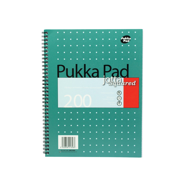 PP01358 Pukka Pad Square Wirebound Metallic Jotta Notepad 200 Pages A4 Pack 3 JM018SQ
