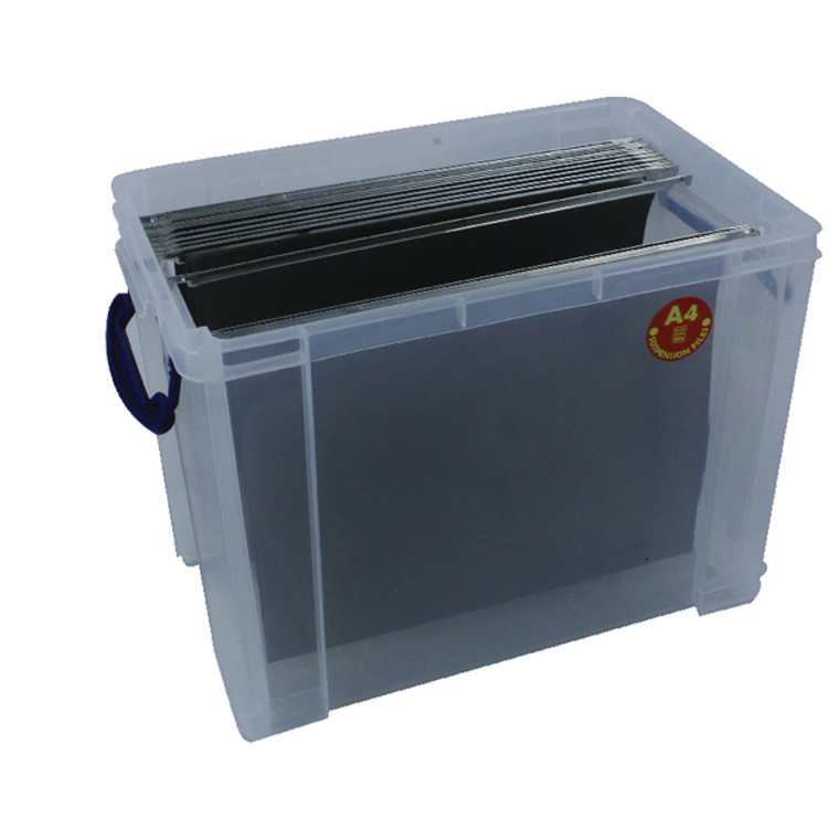RUP80213 Really Useful 19L Plastic Storage Box With Lid W375xD255xH290mm Clear RUP80213