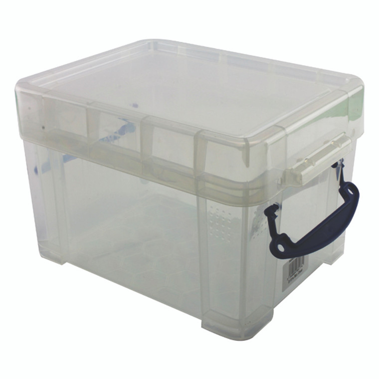 RUP80177 Really Useful 3L Plastic Storage Box With Lid 245x180x160mm Clear 3C