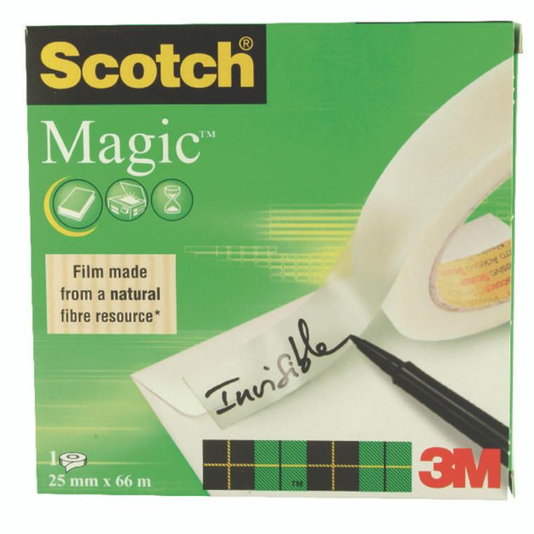 3M66740 Scotch Magic Tape 810 25mm x 66m 8102566