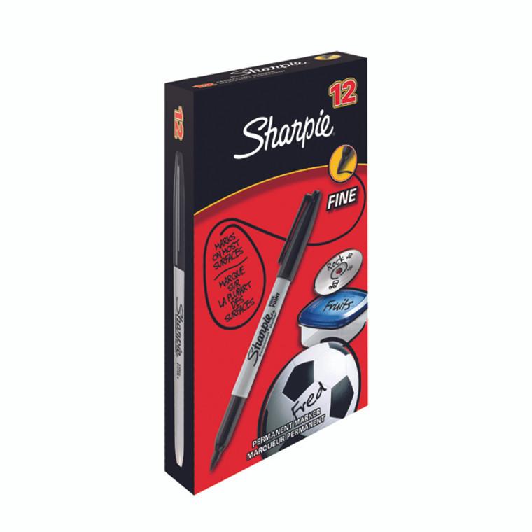 GL52211 Sharpie Permanent Marker Fine Black Pack 12 S0810930
