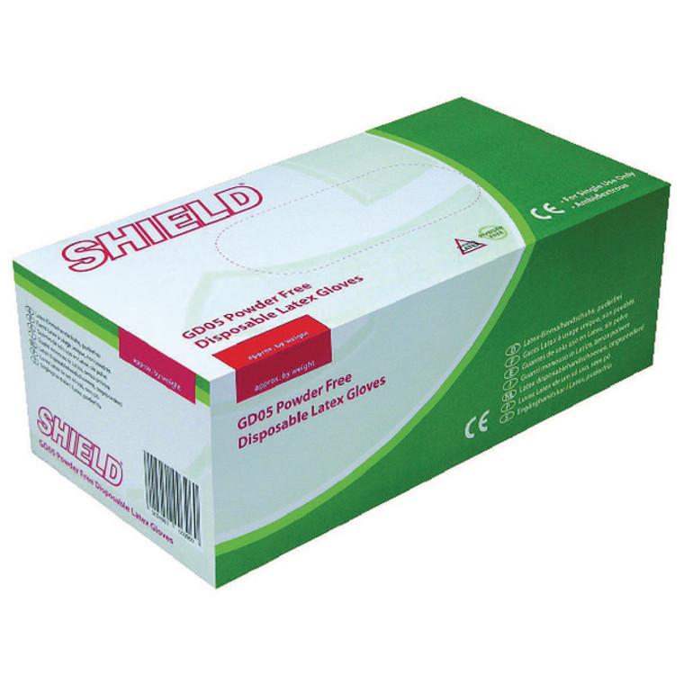 HEA00397 Shield P F Latex Gloves Small Pack 1000 HEA00397