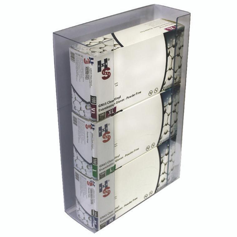 HEA00842 Shield Clear Triple Disposable Glove Dispenser Pack 2 GE TGD