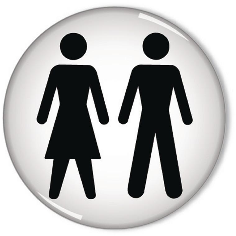 SR11237 Domed Sign Women Men Symbol 60mm RDS3