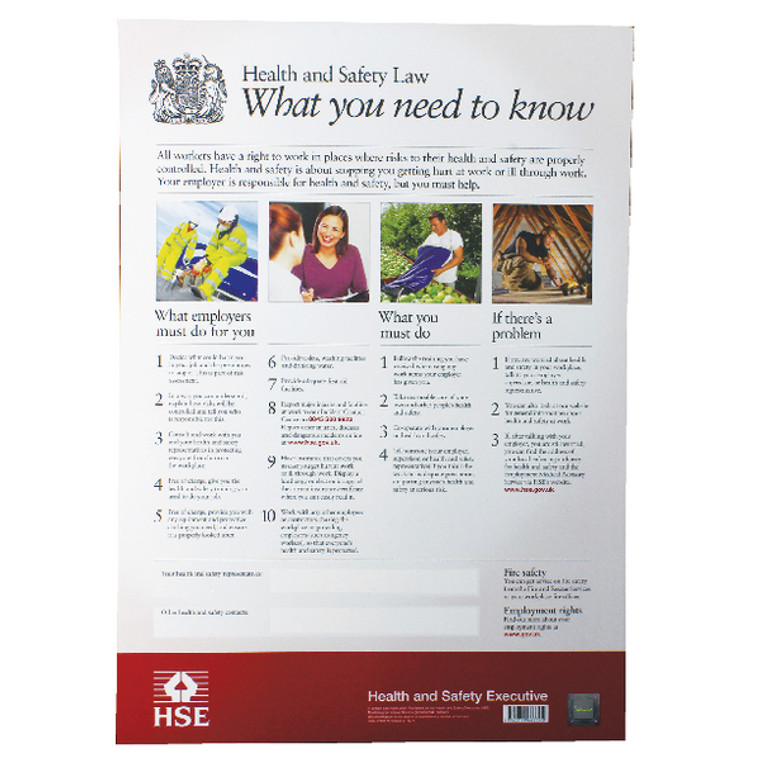 SR72156 New Health Safety Law Poster A2 FWC30
