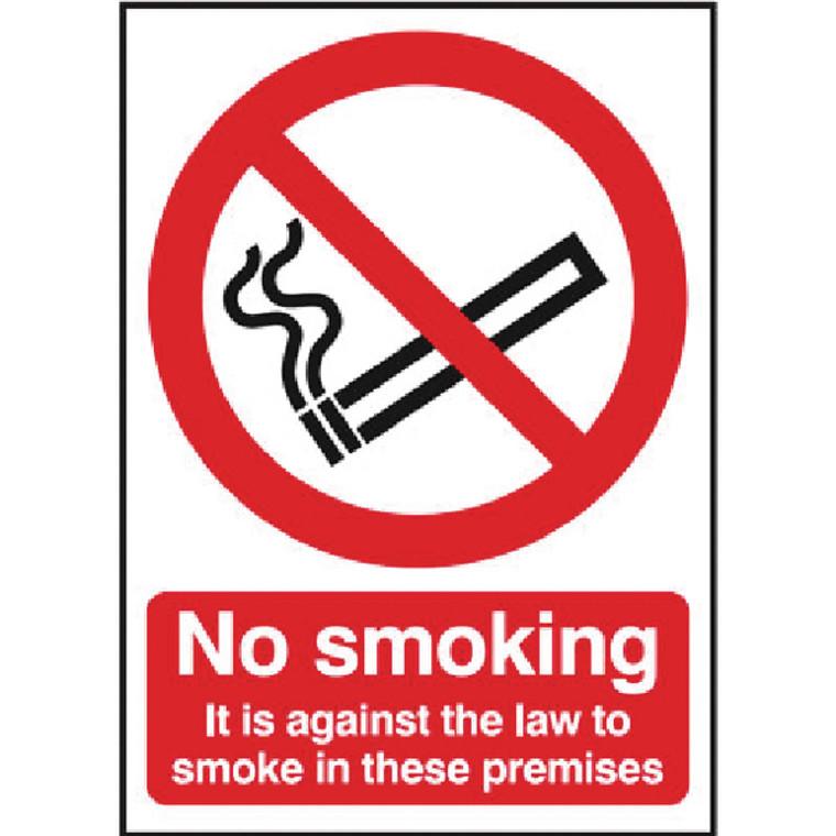 SR72082 Safety Sign 297x210mm No Smoking Self-Adhesive SR72082