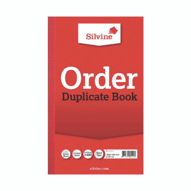 SV42550 Silvine Duplicate Order Book 210x127mm Pack 6 610