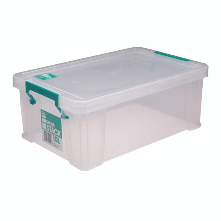 RB90123 StoreStack 10 Litre Storage Box W400xD255xH150mm Clear RB90123