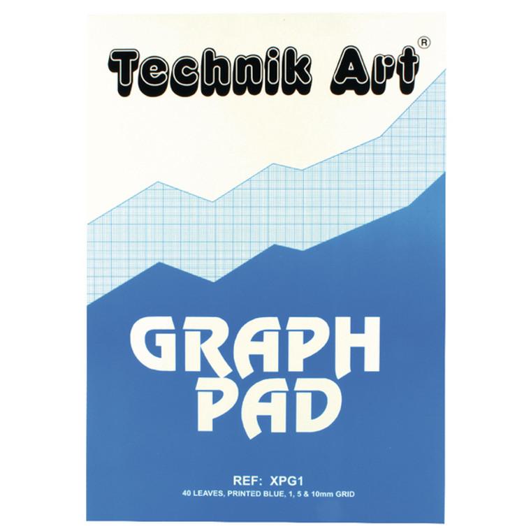 CH21021 Clairefontaine Technik Art 1 5 10mm Graph Pad 40 Leaf XPG1