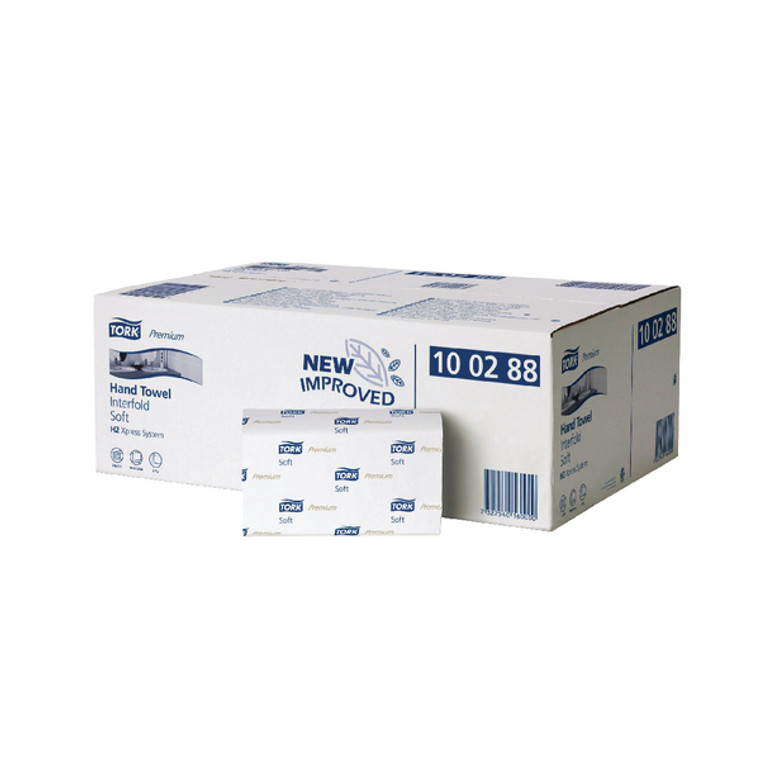 SCA59950 Tork Xpress Interfold Hand Towel H2 White 110 Sheets Pack 21 100288