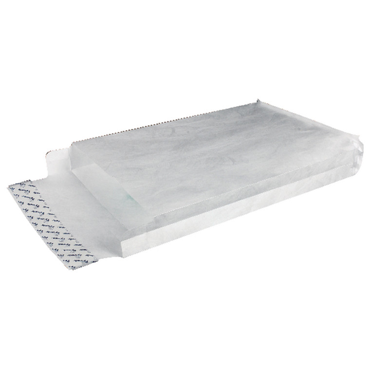 TY02268 Tyvek Envelope 324x229x38mm Gusset Peel Seal White Pack 100 755024