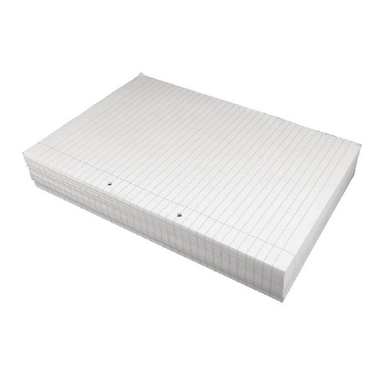 MO73914 Loose Leaf A4 Paper 75gsm 2 Hole Punched Ruled with Margin White 500 Sheets 73914