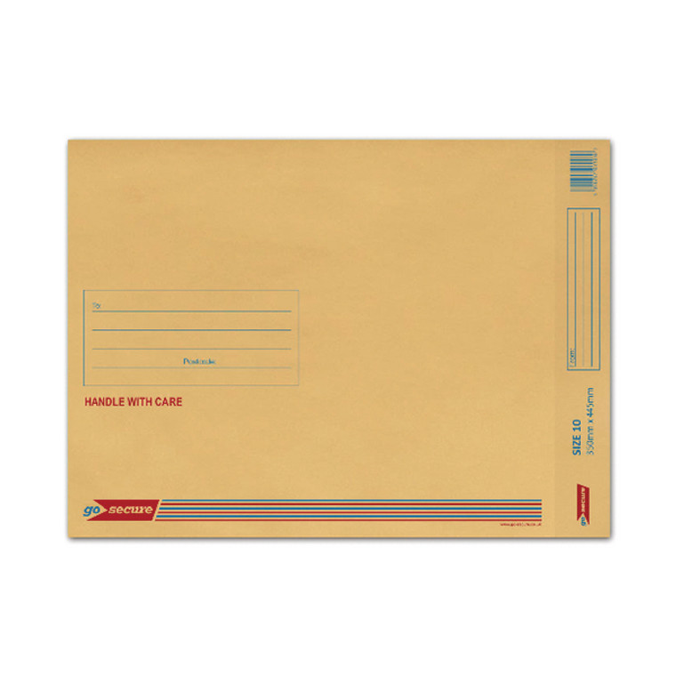 ML10062 GoSecure Bubble Lined Envelope Size 10 350x470mm Gold Pack 50 ML100062