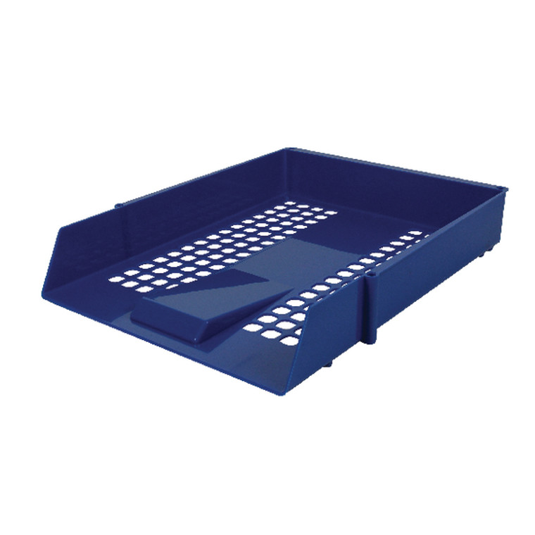 WX10052A Contract Blue Letter Tray Plastic construction mesh design WX10052A