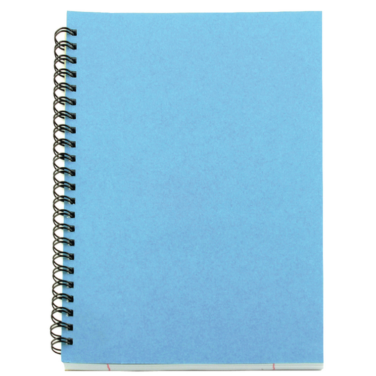 WX10039 A5 Spiral Pad 80 Leaf Blue Pack 12 WX10039