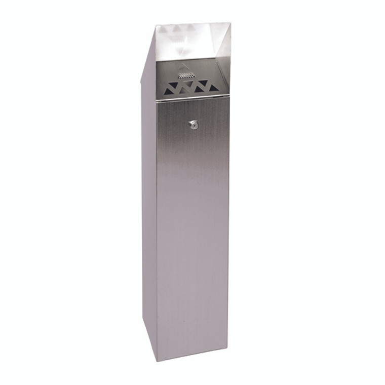 SBY08763 Silver Hooded Top Cigarette Ash Tower Bin 6 6 Litre 317468