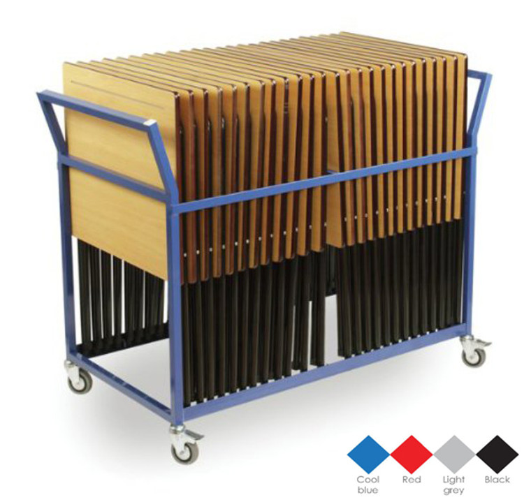 EF0213-M Monarch Exam Pack - Exam Desk Trolley complete with 25 Exam Desks