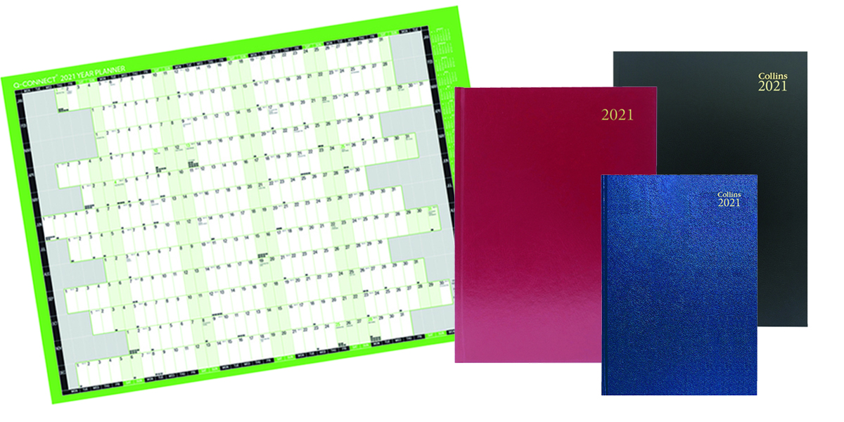 Diaries and planners for 2021