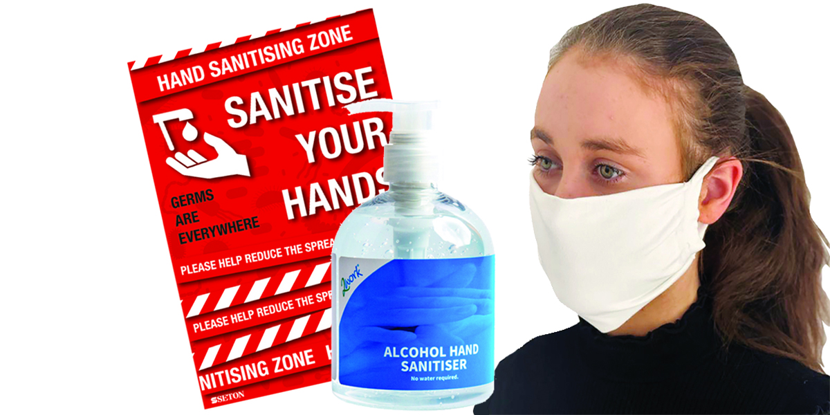 Personal protection equipment - aprons gloves face masks visors hand sanitisers and screens