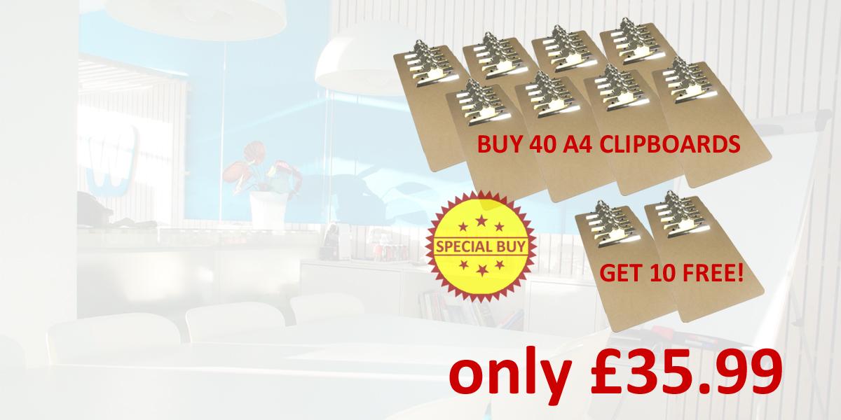 A4 masonite clipboards