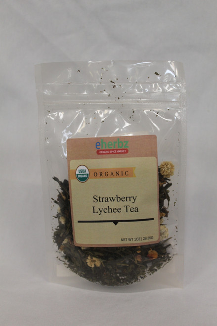 strawberry lychee green tea