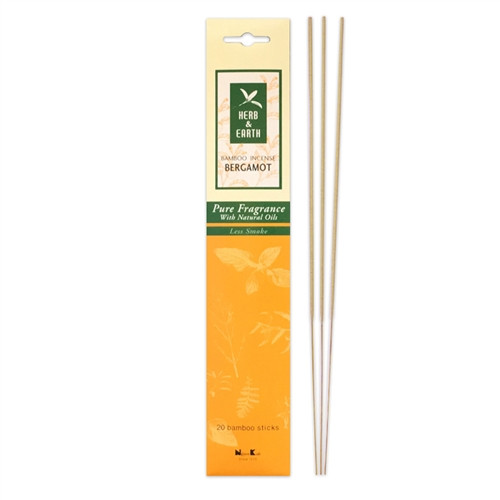 Herb&Earth Bamboo Incense Bergamot 20sticks