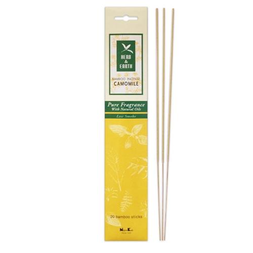 Herb&Earth Bamboo Incense Chamomile 20sticks
