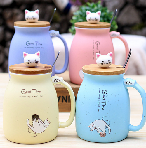 Catmug with Lid & Spoon
