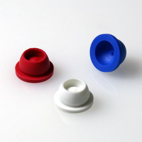12/13mm Pierceable Santoprene Stoppers, Assorted Colors