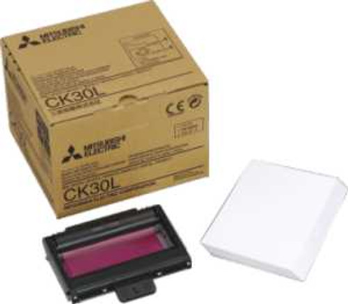 Mitsubishi CK30L Paper and Ink Cartridge