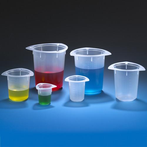 Tri-Corner Polypropylene Plastic Economy Style Beakers