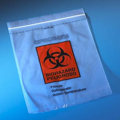 "Biohazard Specimen Transport Bag, 8"" x 10"""