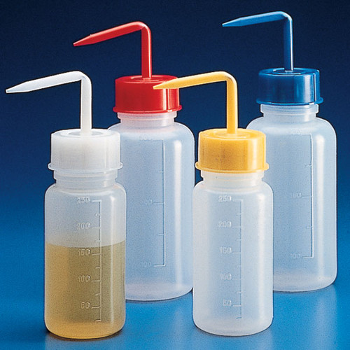 Wash Bottles, Squeeze with Wide Mouth
