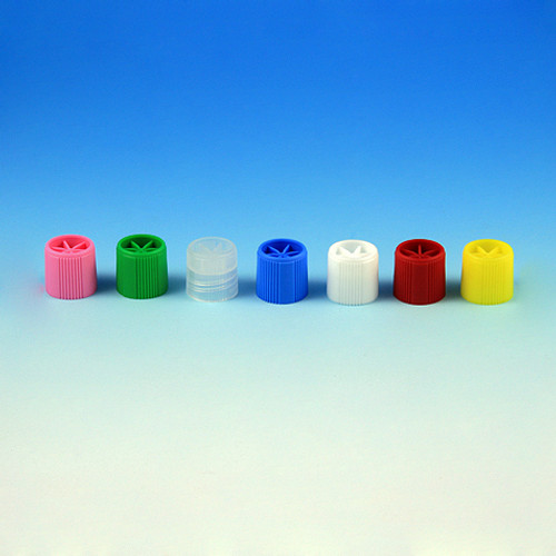 Screw Caps with O-Ring for Sample Tubes, Assorted Colors