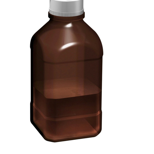 1 liter and 2.5 liter amber borosilicate glass autoclavable bottles