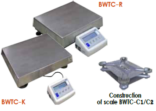 BWTC- K and BWTC R Platform Scales with construction of scale BWTC -C1/C2